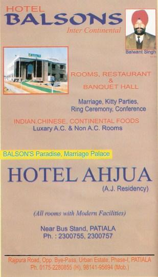 Hotel Balsons