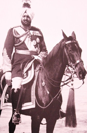 Maharaja Bhupinder Singh On Horse