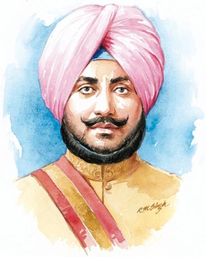 Portrait Of Maharaja Bhupinder Singh
