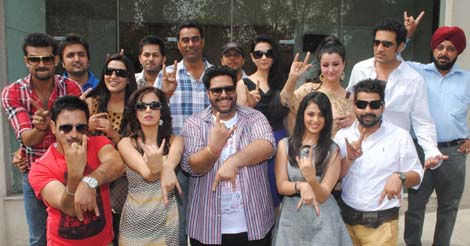 Cast Crew Of Punjabi Movie Young Malang Shoots In Patiala Apna Patiala